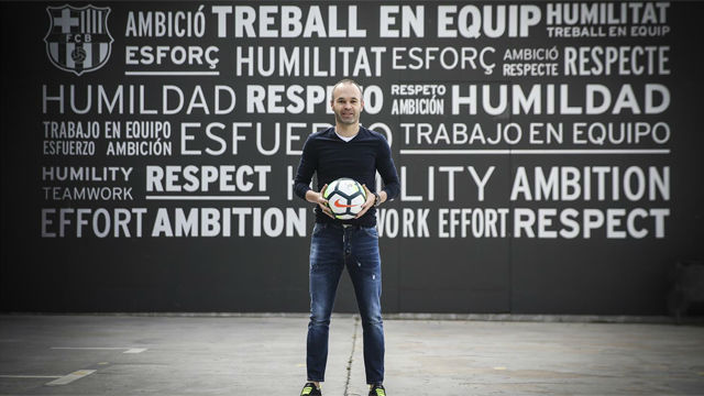 Andrés Iniesta hace balance de su trayectoria como blaugrana