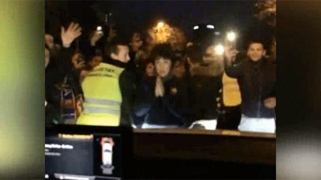 Antonella mostró la locura de los fans de Messi desde el coche