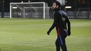 Arda Turan en las instalaciones de la Ciudad Deportiva del FC Barcelona