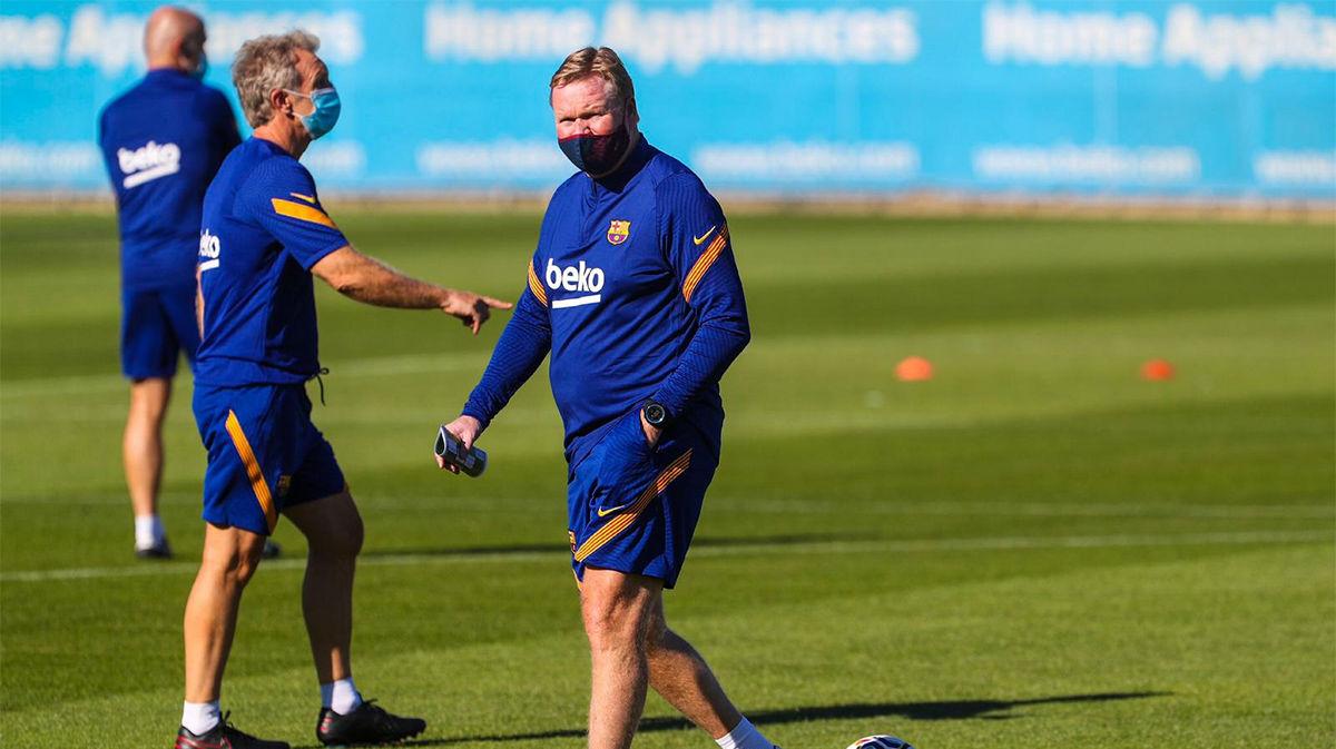 El Barça ya entrena a las órdenes de Koeman y sin Messi