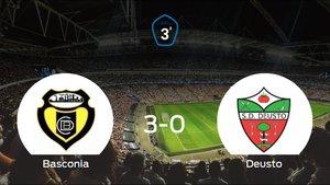 El Basconia consigue los tres puntos en casa tras pasar por encima al Deusto (3-0)