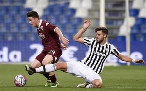 Blanco, en un lance con la camiseta de la Juventus