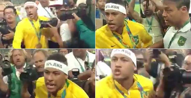 La bronca de Neymar con un aficionado brasileño