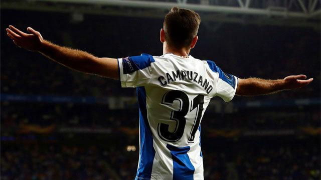 Campuzano sentenció la victoria del Espanyol con un gol de pícaro