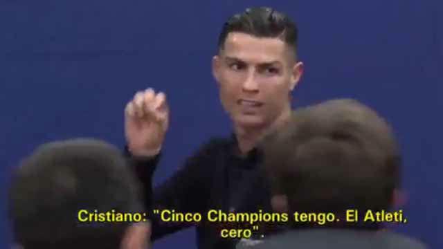 Yo 5 Champions, el Atlético 0. Cristiano estalla en zona mixta y vuelve a demostrar su mal perder