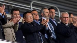 Chen, durante un partido del Espanyol de la pasada temporada en el estadio