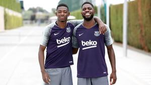 Dembélé y Umtiti se incorporaron a los entrenamientos del Barça esta semana