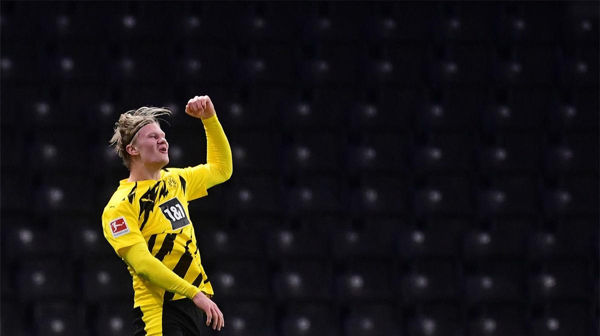 El Dotmund golea al Hertha en una nueva exhibición de Haaland