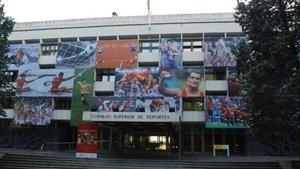 Fachada del edificio del Consejo Superior de Deportes (CSD)