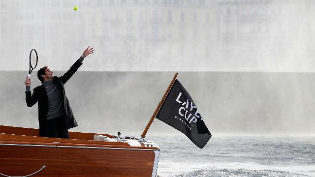Federer y Borg promocionan la Copa Laver jugando al aire libre en Ginebra