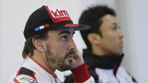 Fernando Alonso con el equipo Toyota