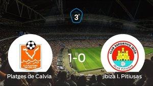 El Ibiza I. Pitiusas perdió 1-0 en el Polideportivo Municipal de Magalluf frente al Platges de Calvia