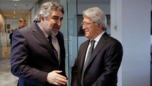 Imagen de archivo de Cerezo con el Ministro de Deportes