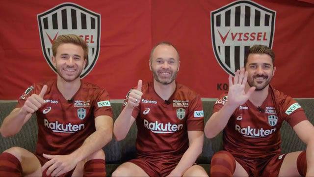 Iniesta, Samper y Villa ilusionados por enfrentarse al Barça