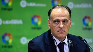 LaLiga, presidida por Javier Tebas, ha rechazado el pago de la cláusula de Neymar