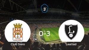 El Lealtad Villaviciosa se lleva los tres puntos a casa tras golear al Club Siero (0-3)