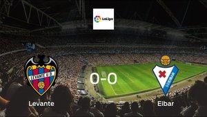 Levante plays to a goalless draw against Eibar at Ciudad de Valencia