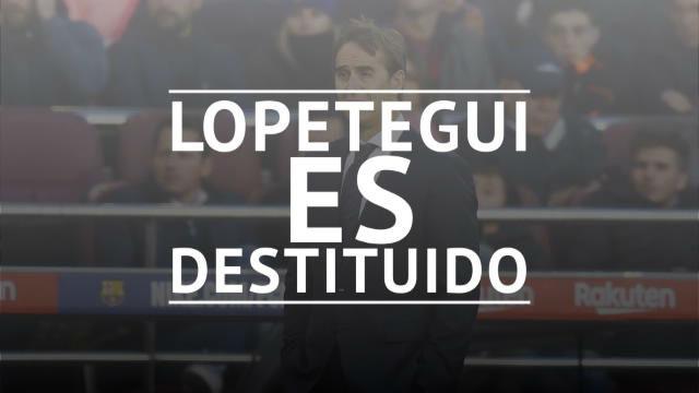 Lopetegui, destituido como técnico del Real Madrid