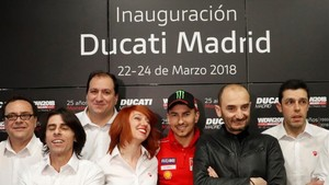 Lorenzo y Claudio Domenicali, en Madrid