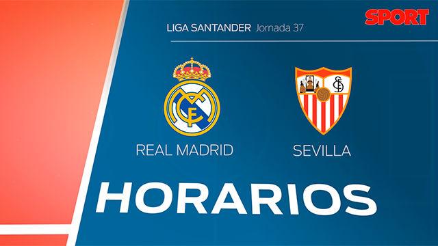 Los horarios del Real Madrid - Sevilla