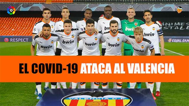 Los jugadores del Valencia sufren los primeros contagios del COVID-19