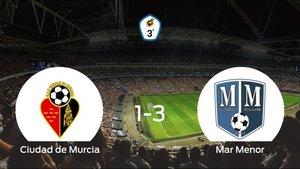 El Mar Menor aprovecha la segunda parte para ganar al Ciudad de Murcia (1-3)