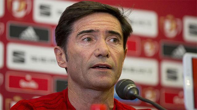 Marcelino elogia a su equipo antes de enfrentarse al Barça en la final de la Copa del Rey