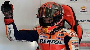 Márquez no ha podido seguir adelante por su lesión en el brazo