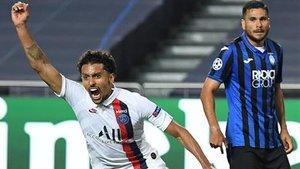 Marquinhos anotó el tanto del empate para el PSG en el último suspiro. Y después llegaría el gol de la victoria...