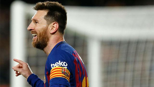 Messi dio el título al Barça con un gol marca de la casa