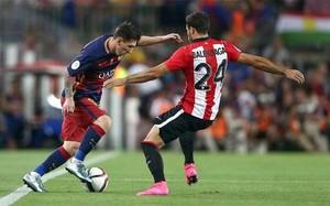 Messi ha marcado ya en cinco ediciones de la Supercopa de España, un récord