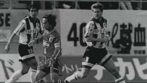 Michael Laudrup durante su paso por el Vissel Kobe entre 1996 y 1977