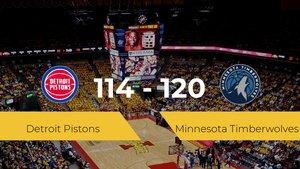 Minnesota Timberwolves se queda con la victoria frente a Detroit Pistons por 114-120