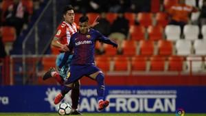 Nahuel marcó los dos goles del Barcelona B en Lugo