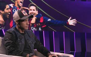 Neymar, en un momento de la entrevista