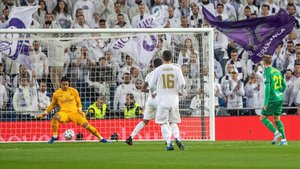 Odegaard dio la primera ventaja a la Real Sociedad en el Bernabéu