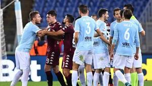 El partido entre la Lazio y el Torino estuvo marcado por la controversia