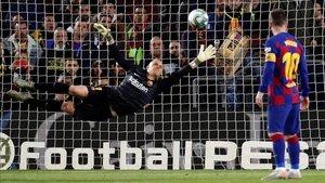 Poco pudo hacer Ter Stegen en el gol del Celta
