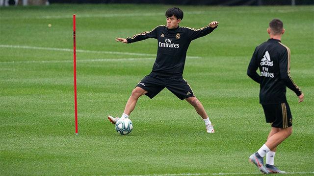 ¡Qué golazos! Take Kubo se luce en el entrenamiento del Madrid