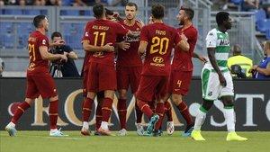La Roma cuajó una gran primera mitad