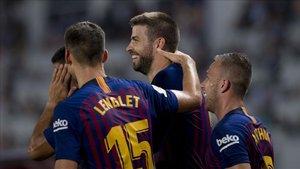 El tándem que forman Lenglet y Piqué se jugarán un tramo muy decisivo de la temporada