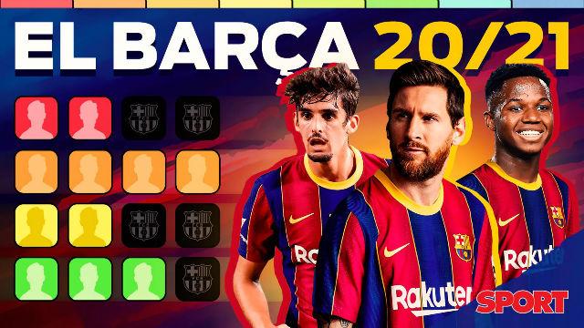Tiermaker de los roles en la plantilla del Barça a día de hoy