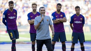 Valverde durante la presentación del equipo