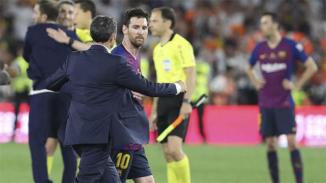 Valverde, sobre el discurso de Messi: Siempre es así, tenemos que luchar por ganar todos los partidos