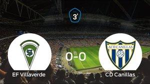El Villaverde y el Canillas se repartieron los puntos tras un empate a 0