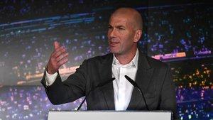 Zidane, durante su presentación como entrenador del Real Madrid
