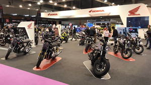 Stand de Honda en el salón VIve la Moto de Madrid.