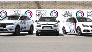 Modelos de DS, CItroën y Peugeot para Free2Move Lease.