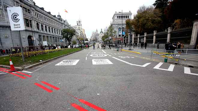 El primer día de Madrid Central arranca con normalidad