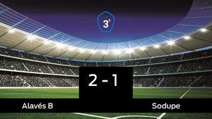 El Alavés B derrotó al Sodupe por 2-1